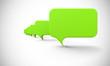 Sprechblasen In Reihe - Grün
