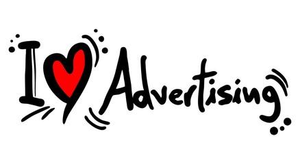 Advertising love