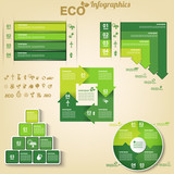 Eco infographics design elements