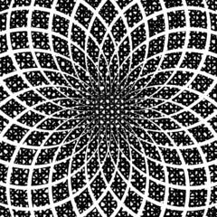Design monochrome circular spiral background. Splinter textured
