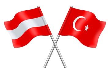 Flags: Austria and Turkey