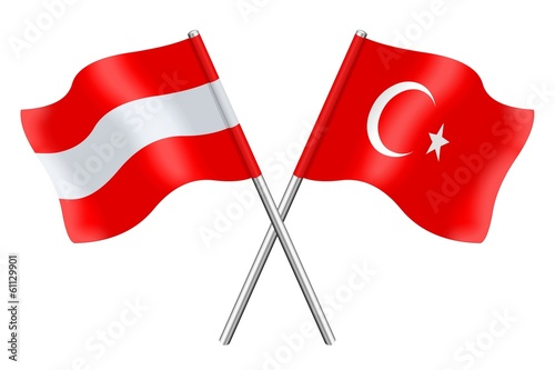 Flags: Austria and Turkey