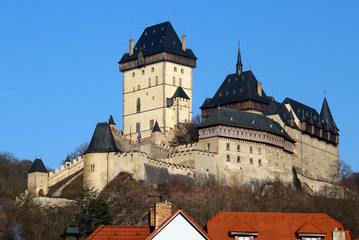 The castle of Karlstejn, Czech republic