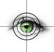 Grünes Auge mit Fadenkreuz