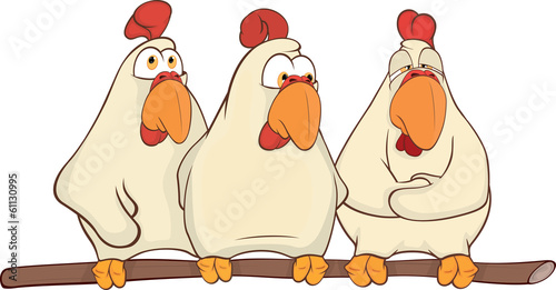Hens cartoon