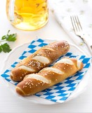 Oktoberfest lye rolls and beer