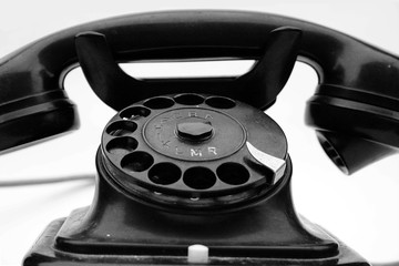 Old-fashioned antique phone