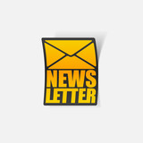 latest news, realistic sticker
