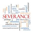 Leinwandbild Motiv Severance Word Cloud Concept