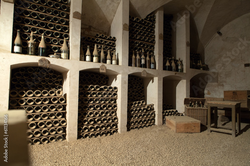 Fototapeta The cellar to the storage of wine in the castle of Valencay.