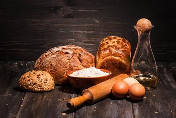 bread eggs