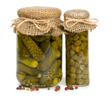jars of pickles and capers