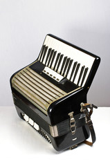 Black accordion side view