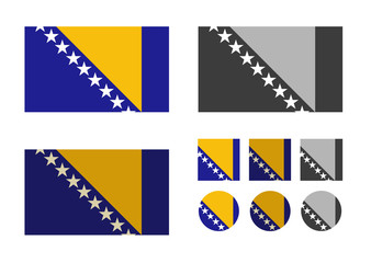 Bosnia and Herzegovina. Vector format