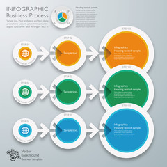 Infographics Vector Background Business Process