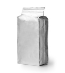 blank silver product packaging