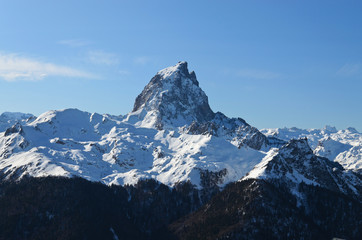 The pic du Midi d'Ossau in French Pyrenees.