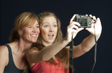 Taking a selfie photo with a camera poster