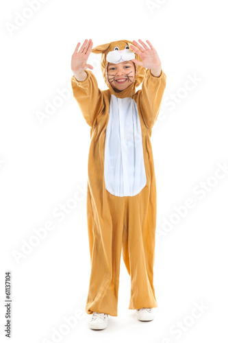 Child as easter hare