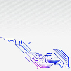 Shiny circuit technology with bright background, Vector illustra