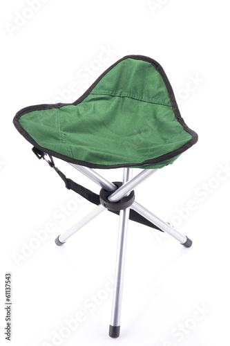 Three-legged tourist portable chair