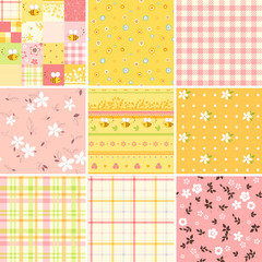 Baby Pink Yellow Seamless Set