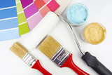 paint brush and paint color choice for interior