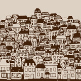 vector illustration: real estate and houses