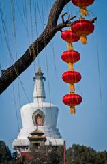 The Bai Ta (White Pagoda or Dagoba) stupa, Beihai Park, Beijing