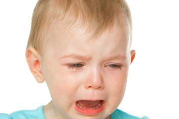 Little girl angry and crying.