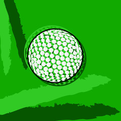 Stylized golf ball