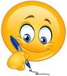 Writing emoticon