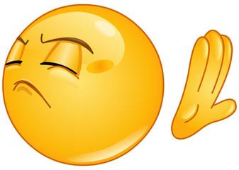 Refuse emoticon