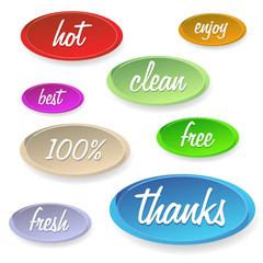 Set of stickers or buttons - customer satisfaction