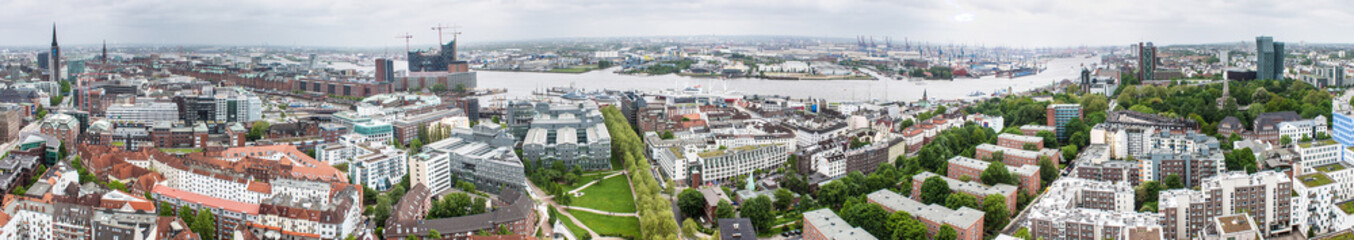 Panorama of Hamburg, Germany