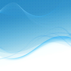 Transparent blue abstract background - waves