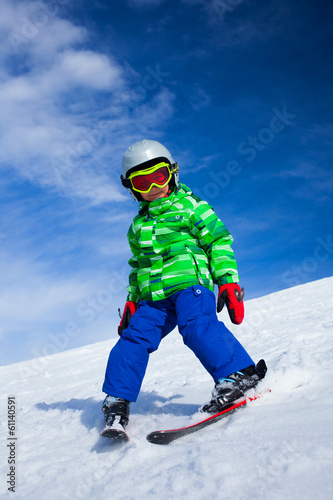 A photo of a junior skier