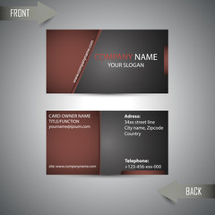 stylist dark business card for template