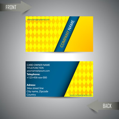 stylish business card for template