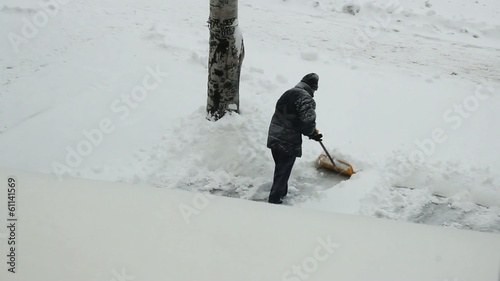 January 2013 Ukraine Donetsk Heavy snowfall