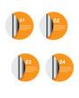 Leinwandbild Motiv Infographic design for product ranking