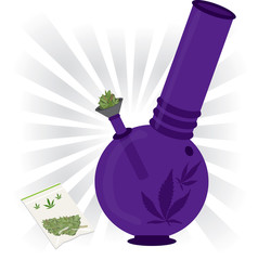 marijuana bong illustration