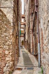 narrow italian alley