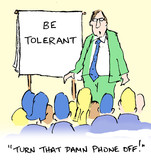 Business presentation for training on tolerance