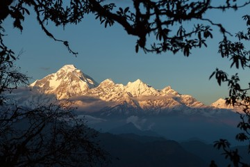 Dhaulagiri at the Sunset