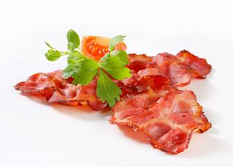 Crispy slices of bacon