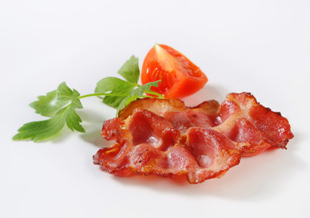 Crispy slice of bacon