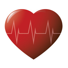 Glossy heart cardiogramme