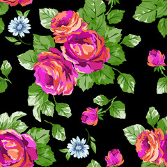 Beautiful Classic roses ~ seamless background