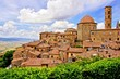 View over the medieval hill town of Volterra, Tuscany, Italy